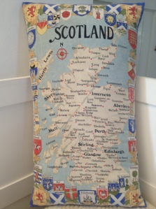 Scotland with town and city coats of arms
