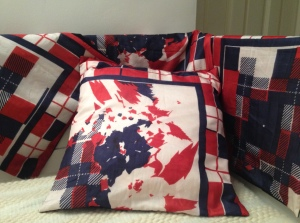 Red, White and Blue (separately or 4 together - made from one scarf)