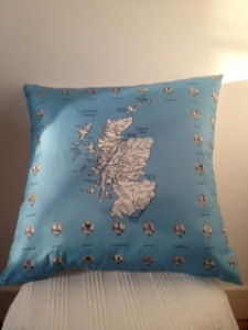 Map of Scotland and Clans (sold)