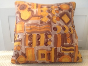 50s Shapes in Orange and Ochre