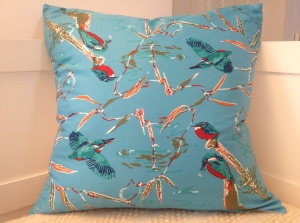 Kingfishers designed and signed by Eric Ennion made by Jacqmar for the Royal Society for the Protection of Birds (reserved)
