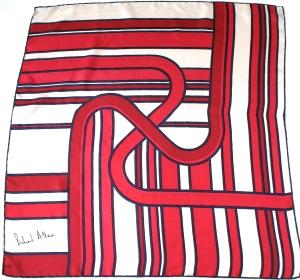 Richard Allen graphic print vintage scarf