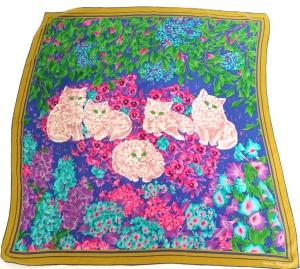 Salvatore Ferragamo vintage silk scarf