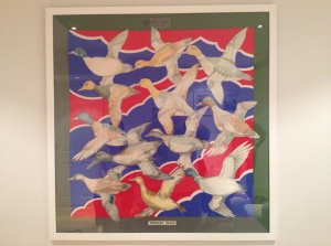 Hermes Scarf - sold Wild Birds in Flight Silk 1 metre square