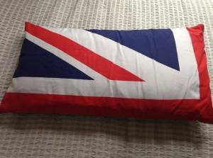 Set of 4 making up Union Flag, hessian backed for garden use