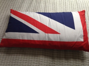 Set of 4 making up Union Flag, hessian backed for garden use