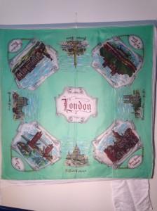 London and landmarks 76x76cm Silk