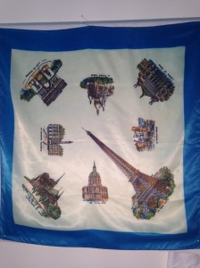 Paris landmarks 80x75cm Manmade