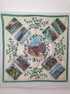 Dublin + Irish landmarks 70x70cm Manmade fabric