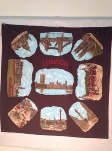 London and landmarks 66x66cm Manmade fabric