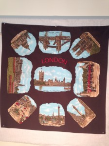 London and landmarks 66x66cm Manmade fabric
