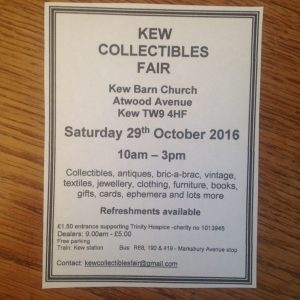 Kew Collectibles Fair